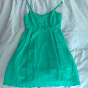 Urban outfitters green mini dress